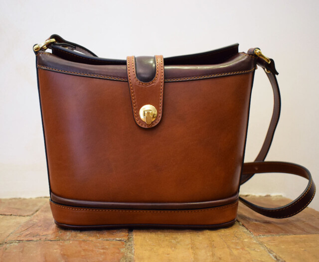 Leather purse - Aura - Cognac Leather