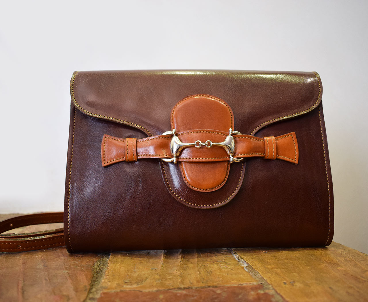 Leather Purse - Fama - Leather Cognac