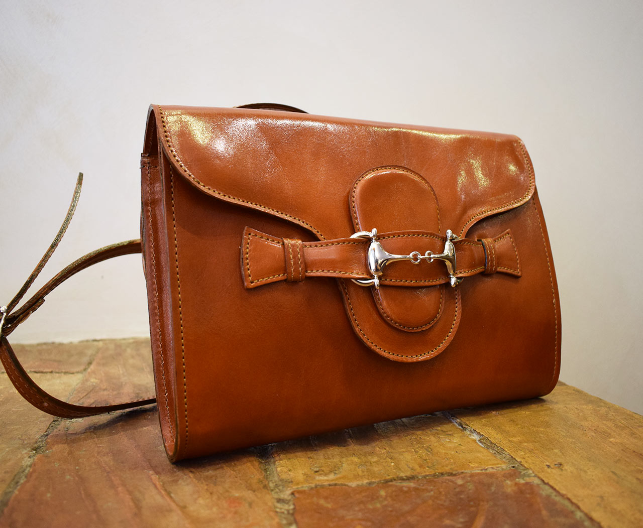 Leather Purse - Fama - Cognac
