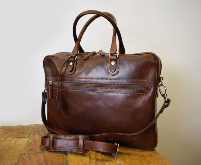 Handmade leather briefcase - Fides