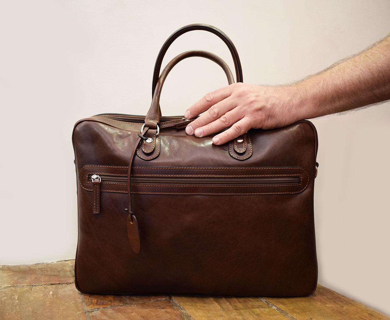 Handmade leather briefcase - Fides