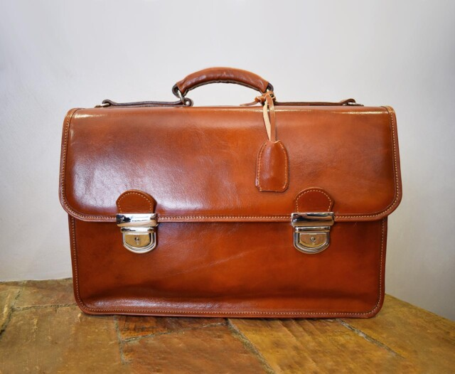 Leather Briefcase - Minerva