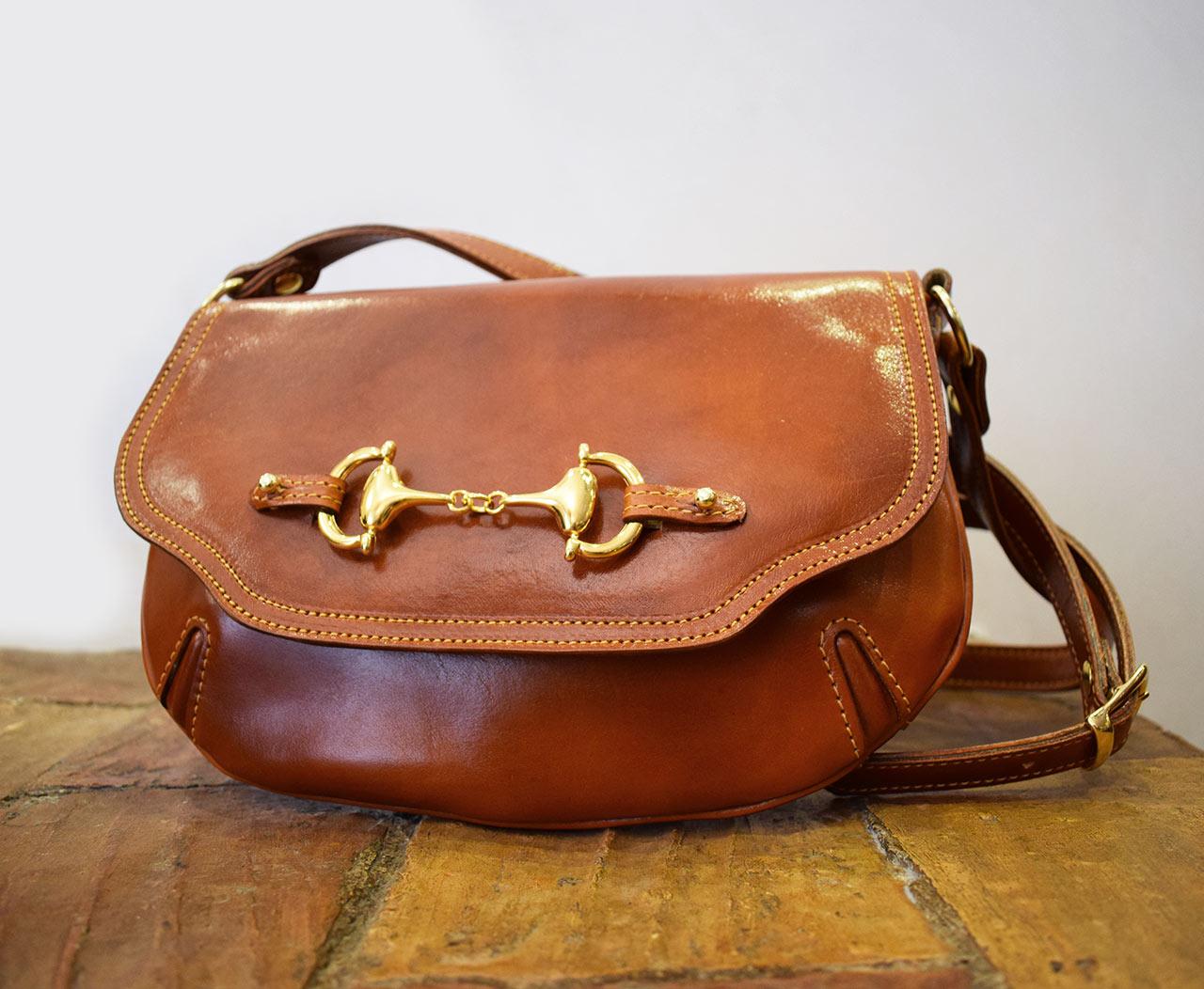 Leather Purse - Muse - Cognac