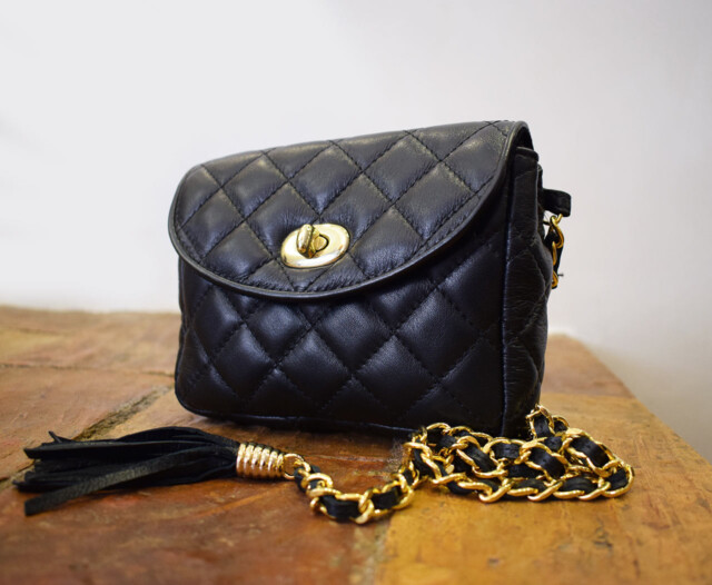 Leather Purse - Mini Venus - Black