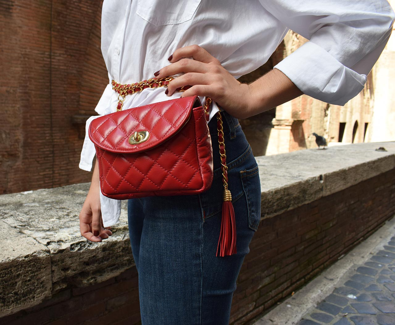 Leather Purse - Mini Venus - Red