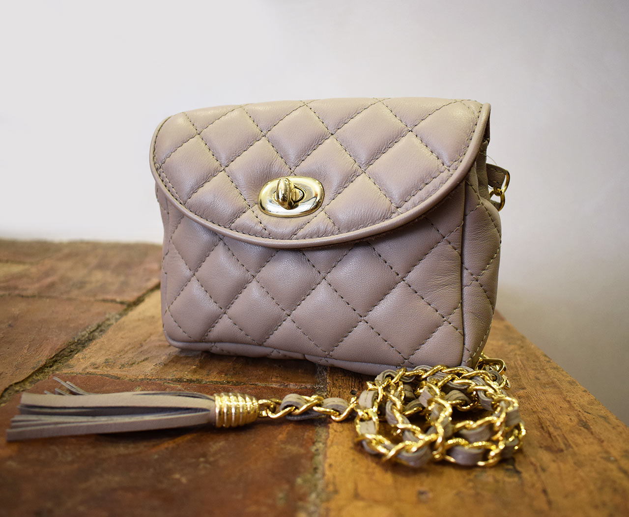 Leather Purse - Mini Venus - Taupe