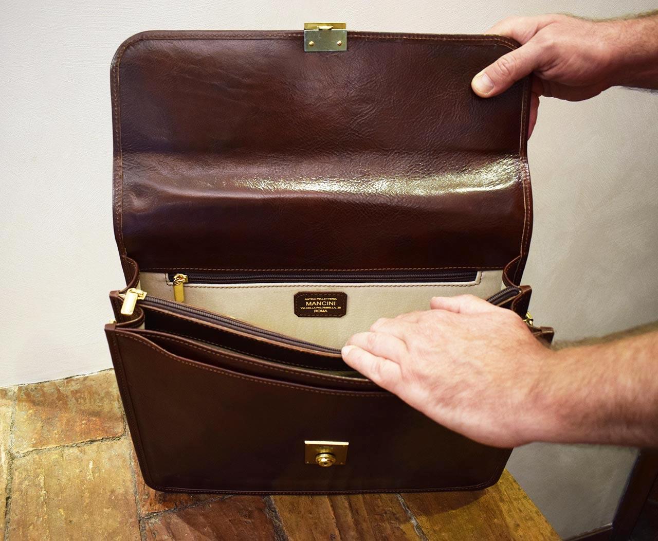Leather Briefcase - Veritas