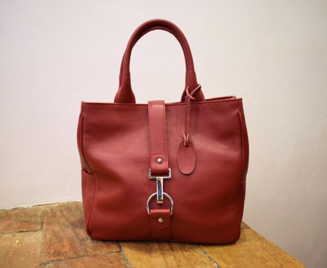 Handmade leather purse - Victoria - Red