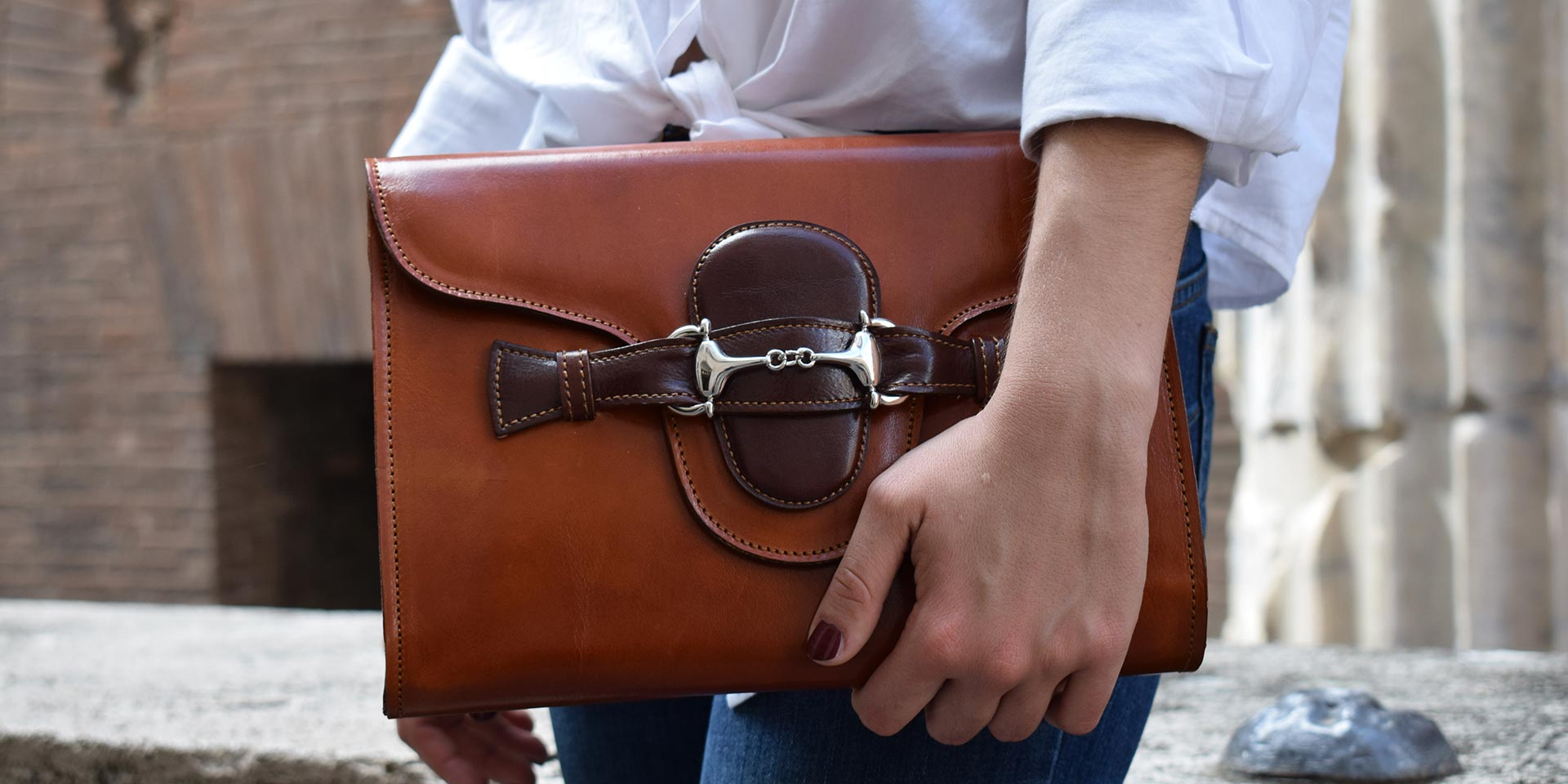 Fama, Italian leather handcrafted purse by Mancini Leather Since 1918