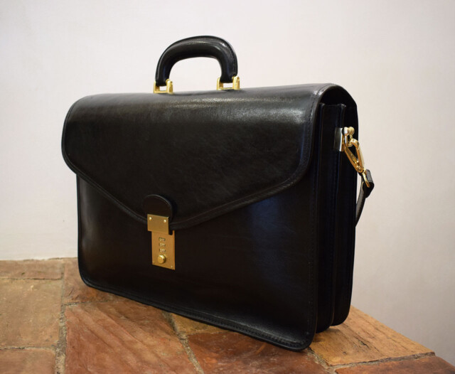Italia leather handmade briefcase - Mancini Leather Rome