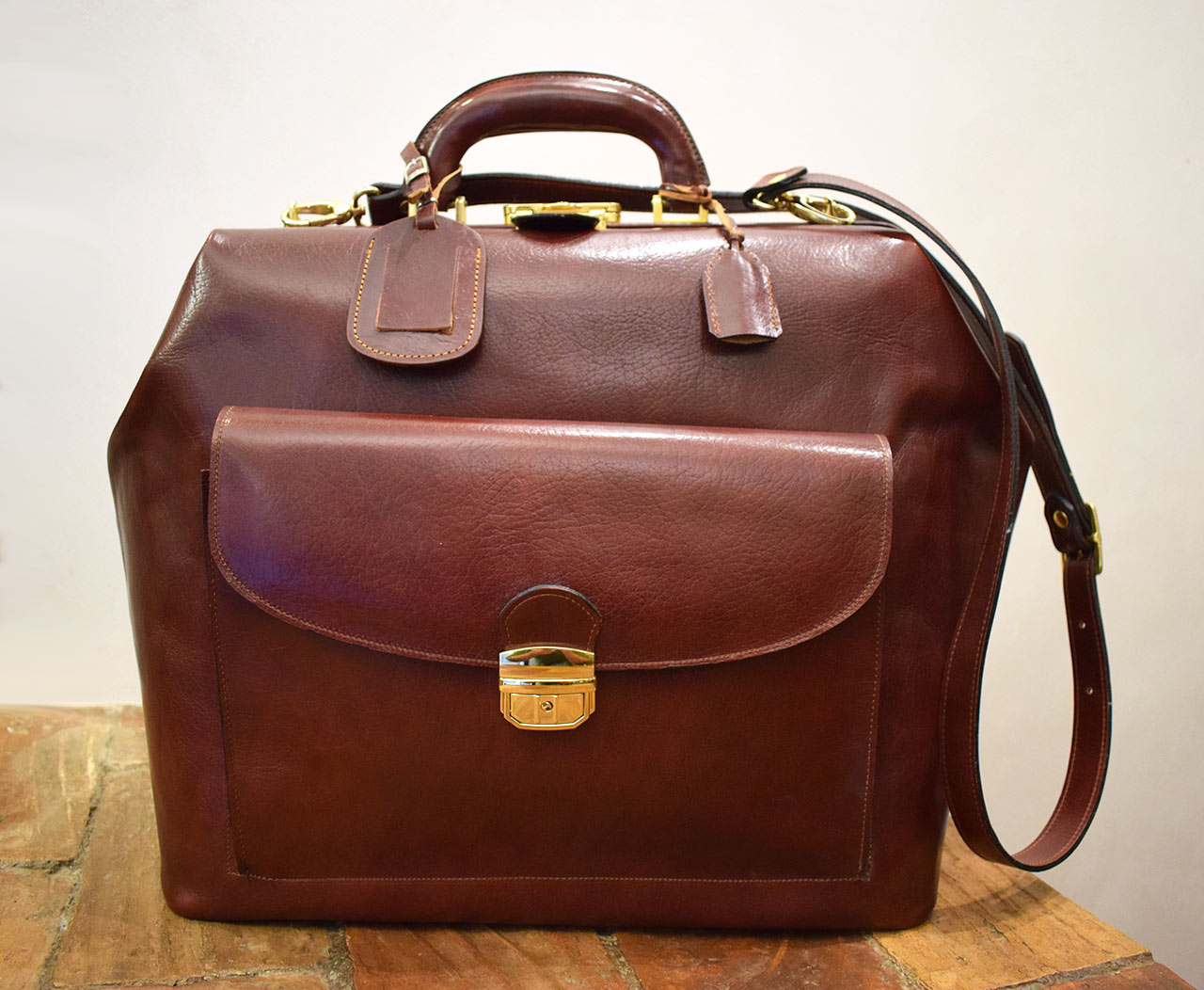 Leather travel bag Mercury - Mancini Leather