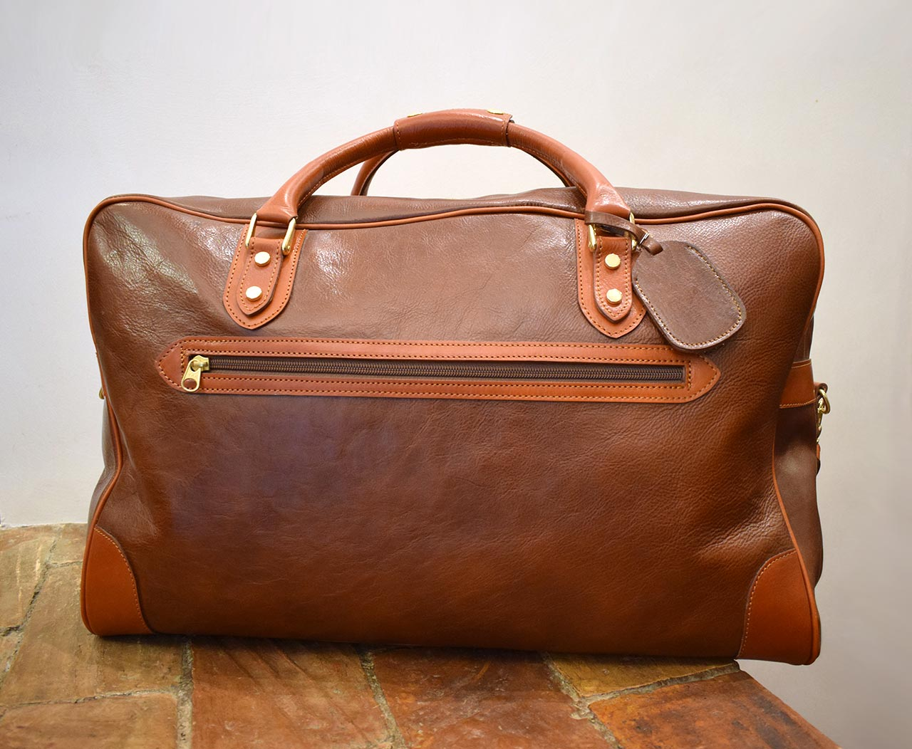 Italian leather handmade travel bag - Mancini Leather