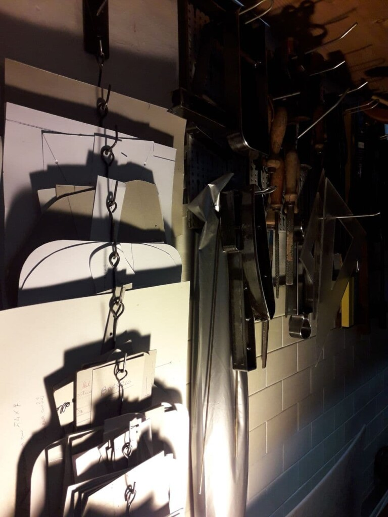 My laboratory in Rome - Mancini Leather Since 1918