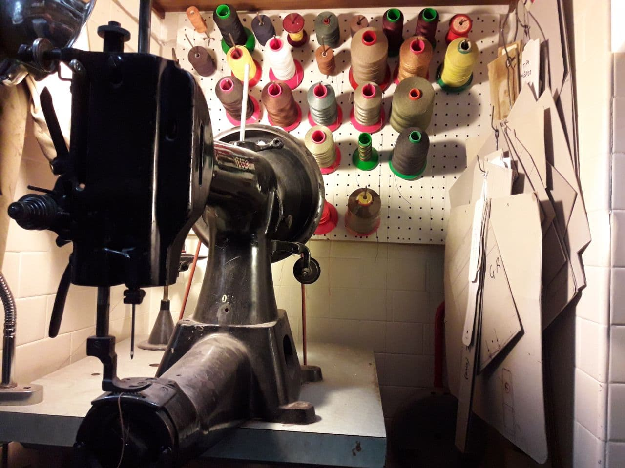 My laboratory in Rome, Mancini Leather Since 1918