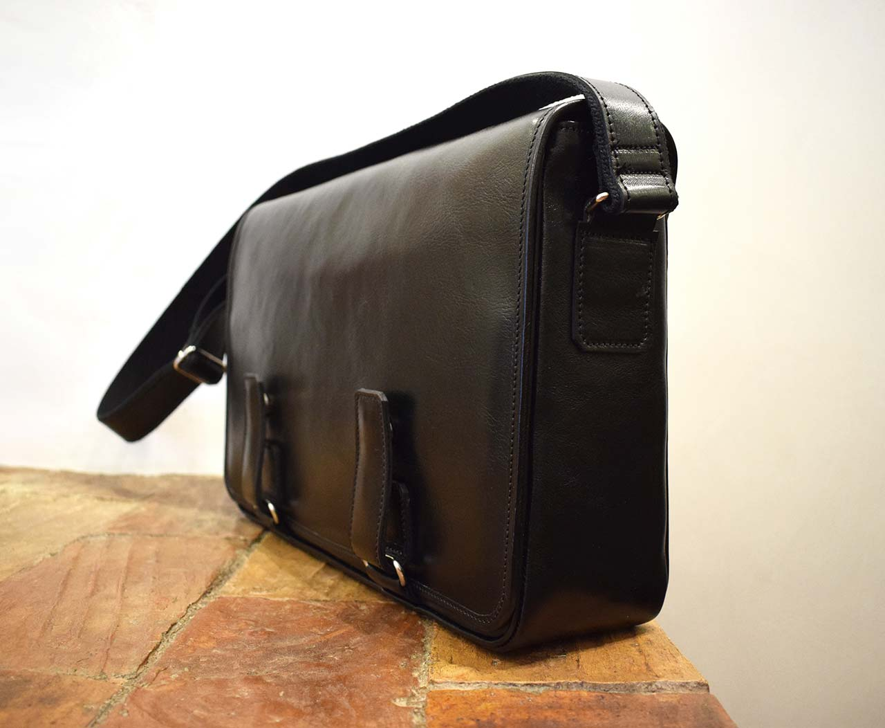 Securitas, Italian leather handmade briefcase by Mancini Leather Since 1918